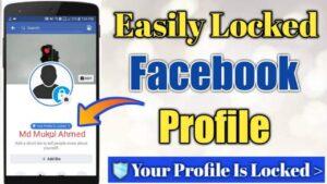 How to lock facebook profile lock
